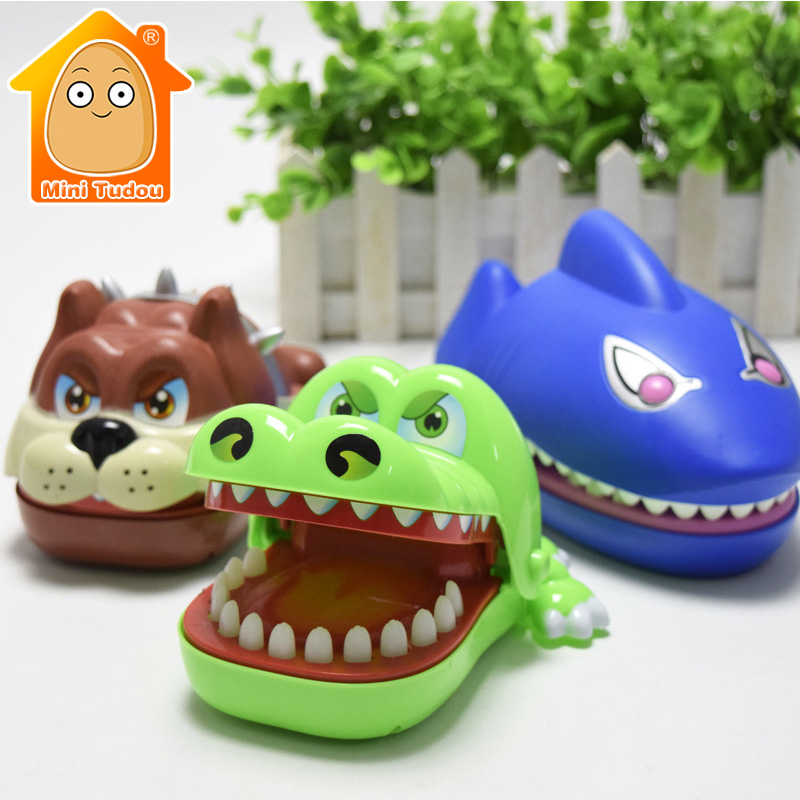 MiniTudou Fun Toys Shark Bulldog Crocodile Dentist Bite Finger Game Croco Funny Novetly Crocodile Teeth Toy For Kids Gift