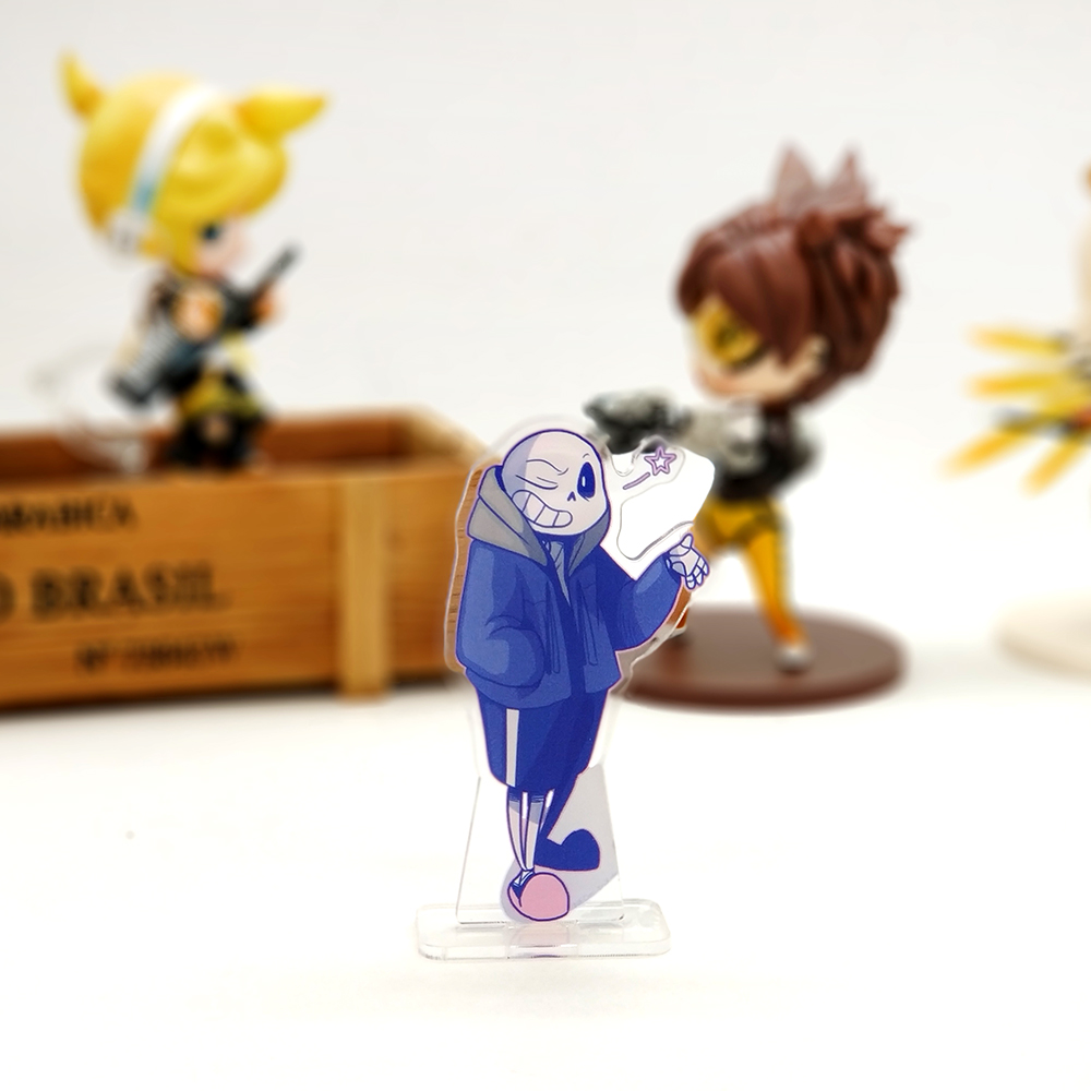 Love Thank You Undertale sans sansy SMALL acrylic stand figure model plate holder cake topper anime video game cute cool