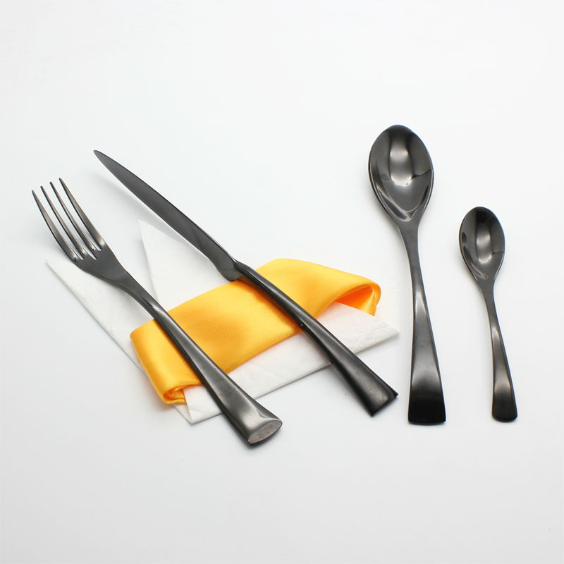 4Pcs set Black Dinnerware Set 420 Stainless Steel Western Steak Knife Fork High quality Tableware Cutlery