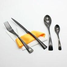 4 Teile/satz Schwarz Geschirr Set 420 Edelstahl Westlichen Steak Messer Gabel Hochwertige Geschirr Besteck Speise Tools