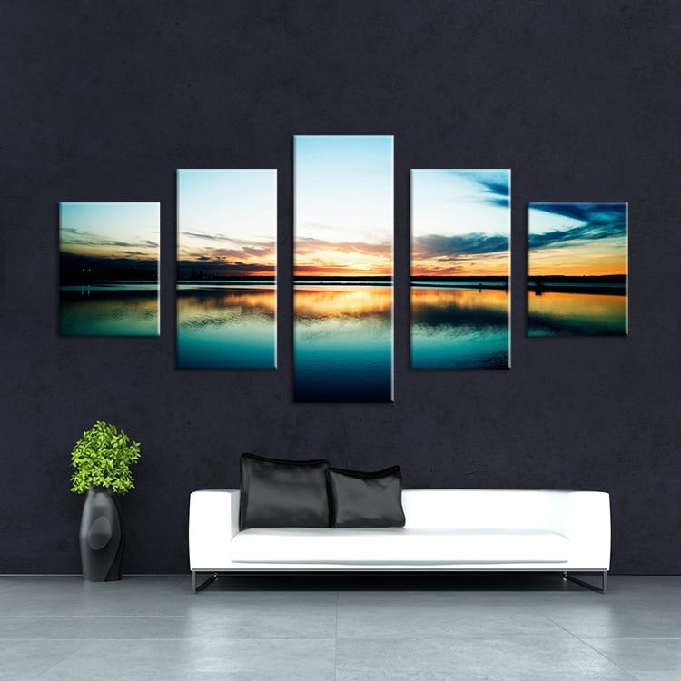 Buy 5 panels the sea landscape modern art for Buy canvas prints online