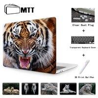 MTT Wilden Tiger Kristall Hard case für 2016 Neue Macbook Air 11 13 Pro 13 15 zoll Touch bar A1706 A1707 Pro 13 A1708 Notebook Cover