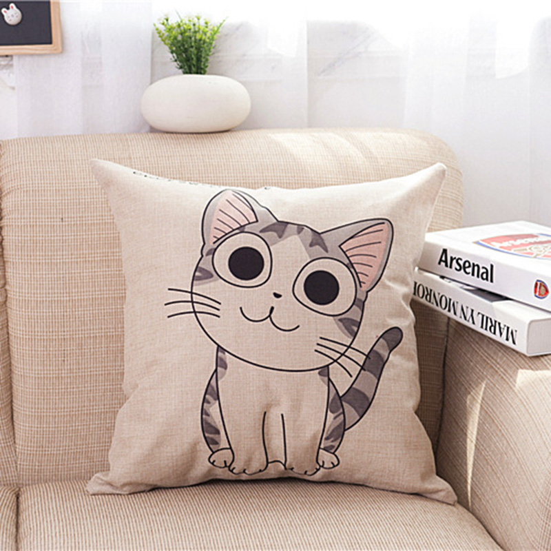 Cut CAT Animal Cushion Home Car Throw Pillows (not including filling) Cushions Decorative Throw Pillow Hot Selling C0