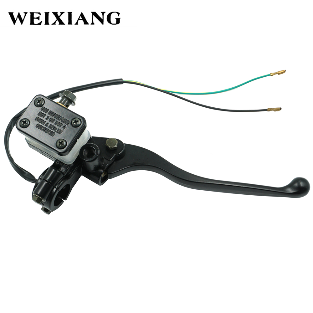 22mm Cable Hydraulic Brake Clutch Master Cylinder Reservoir Levers Universal Motorcycle ATV Motorbike Handle For Honda Yamaha long style universal motorbike brakes 7 8 motorcycle clutch brake levers master cylinder reservoir set for honda silver d20