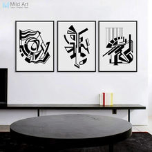 Minimalist Nordic Black White Symbol A4 Art Prints Poster Abstract Living Room Wall Picture Canvas Painting No Framed Home Decor(China)