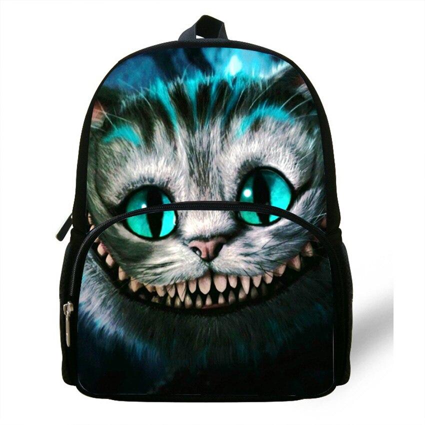 12-zoll Kinder Rucksack Tier Black Cat Rucksack Mädchen Schultasche Casual Daypack Kinder Tasche Tiere Jungen Tagesrucksack In Den Spezifikationen VervollstäNdigen