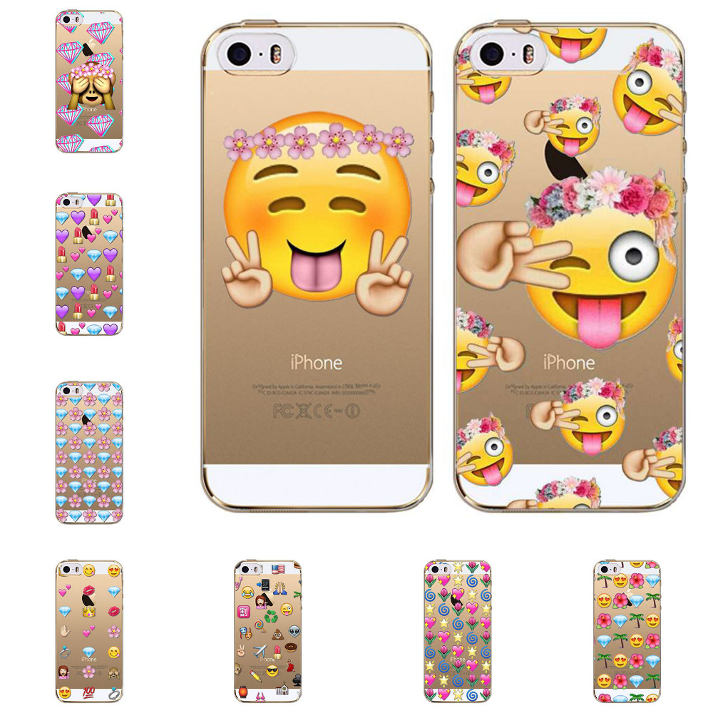 buy clear tpu funny monkey emoji case for iphone 5 5s se fundas capa coque new. Black Bedroom Furniture Sets. Home Design Ideas