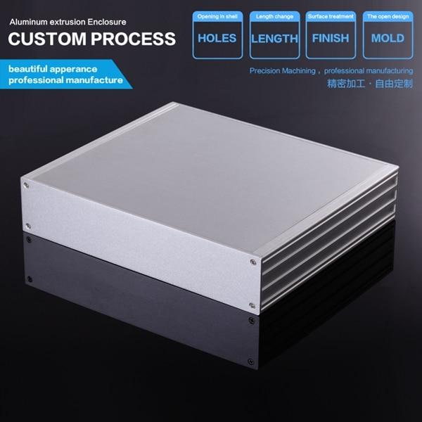 270*56-235 mm (W-H-L)excellent electromagnetic aluminum box enclosure case/enclosure for pcb 3206 amplifier aluminum rounded chassis preamplifier dac amp case decoder tube amp enclosure box 320 76 250mm