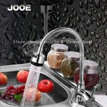 Jooe 360 градусов вращающийся Латунь Кухонный Смеситель Холодной и Горячей Одной Ручкой Кухонный Кран Водопроводной Воды torneira cozinha кран раковины