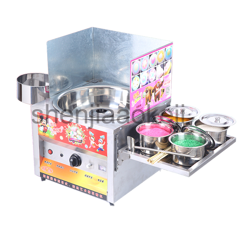 Commercial large capacity cotton candy machine gas cotton candy machine maker various floss spun sugar machine sweet 1pc цена