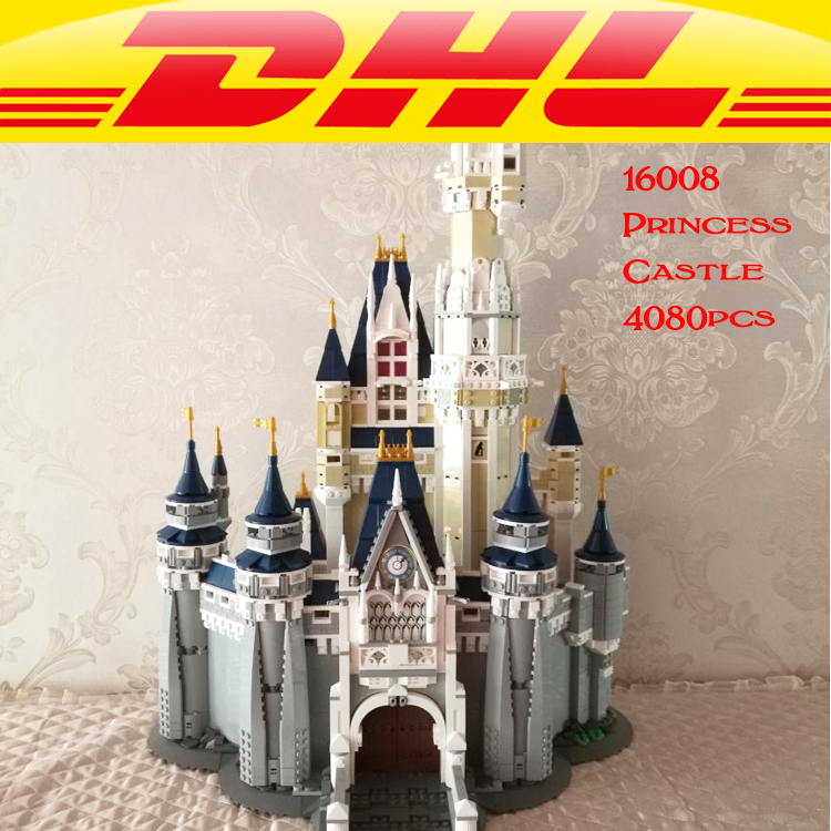 LEPIN 16008 Cinderella Princess Castle Model Building Kits Block Bricks Toys Set Building Blocks Bricks 71040 lepin 16008 creator cinderella princess castle city 4080pcs model building block kid toy gift compatible 71040