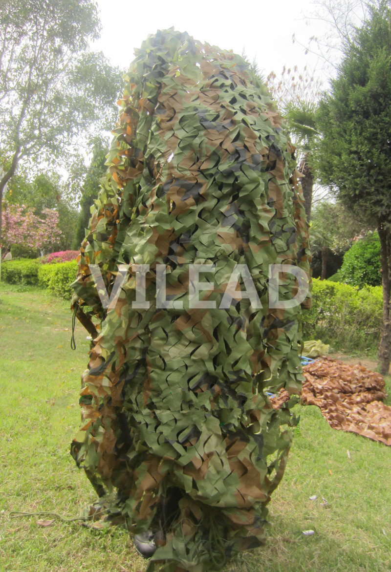 VILEAD 2.5M x 9M (8FT x 29.5FT) Woodland Digital Military Camouflage Netting Army Camo Net Sun Shelter for Hunting Camping Tent vilead 7m x 9m 23ft x 29 5ft desert military army camo netting digital camouflage net jungle shelter for hunting camping tent