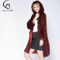 2017 Wear A Hat Fashion Luxury Slim Women S Coat Real Silver Fox Fur Outerwear Fox
