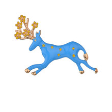 Enamel Animal Elk Brooches Brooch For Women Men Pins Christmas Gifts Wedding Bride Jewelry