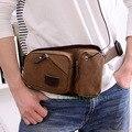 Hombres Canvas Messenger Viajes Hombro de Celular/Teléfono Móvil Monedero Hip Bum Fanny Pack Cintura Sling Bag Pecho