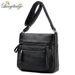 Image 2 - Mode femmes haute qualité en cuir sacs à bandoulière 2018 de luxe femme concepteur sac à bandoulière loisirs fourre tout pour dame sac à bandoulière