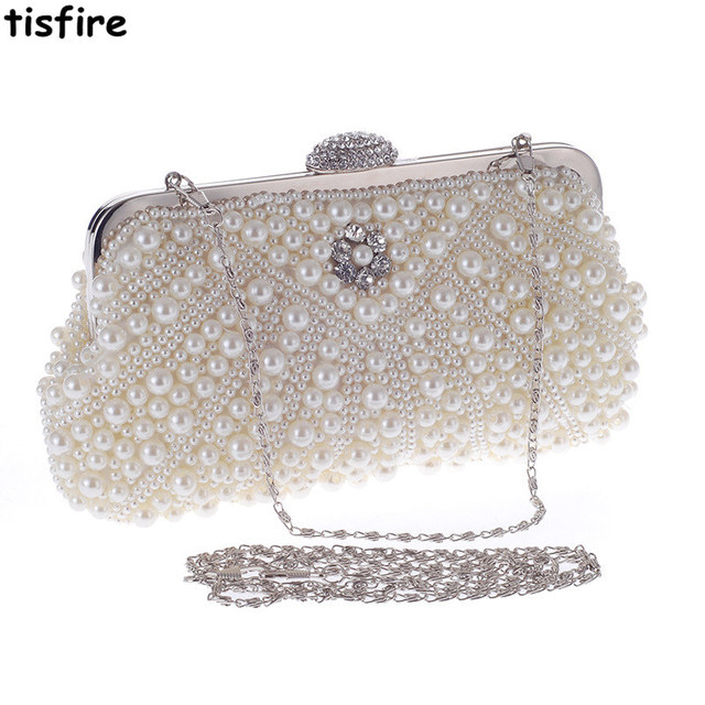Korean pearl exquisite Dinner Bag temperament dress bag banquet hand bag  chain bag b3bf6c6f0ffd