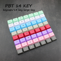 Mechanical Keyboard PBT Keycaps 14 Key Large Key Position OEM Height Color Laser Carving Purple Mint Green Powder Blue Yellow|Keyboards| |  -