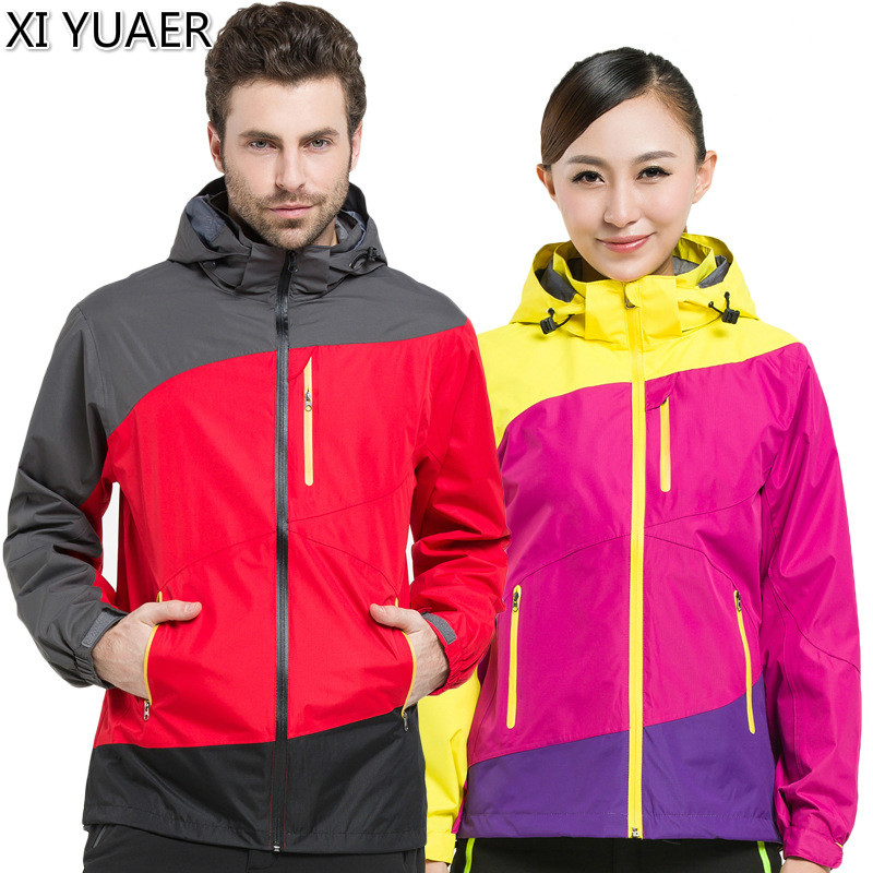 XI YUAER Camping Hiking Jackets Women Men Outdoor Climbing Mountain Rain Coat Trekking Sport Windbreaker Waterproof Jacket 50009 blog flashlight outdoor 5led pocket strong waterproof 8 hours to illuminate mountain climbing camping p004