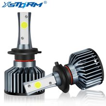 XSTORM H4 H7 LED H1 H3 H8 H11 HB4 9006 HB3 9005 H27 COB Car Led Headlight Bulbs 72W 8000LM 6000K DC12V 24V Auto Lights Headlamp(China)