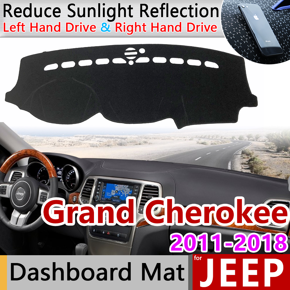 for Jeep Grand Cherokee WK2 2011 2012 2013 2014 2015 2016 2017 2018 2019 Anti-Slip Mat Dashboard Cover Dashmat Accessories Cape