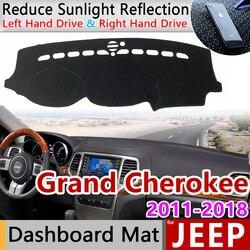 for Jeep Grand Cherokee WK2 2011 2012 2013 2014 2015 2016 2017 2018 2019 Anti-Slip Mat Dashboard Cover Dashmat Accessories Cape
