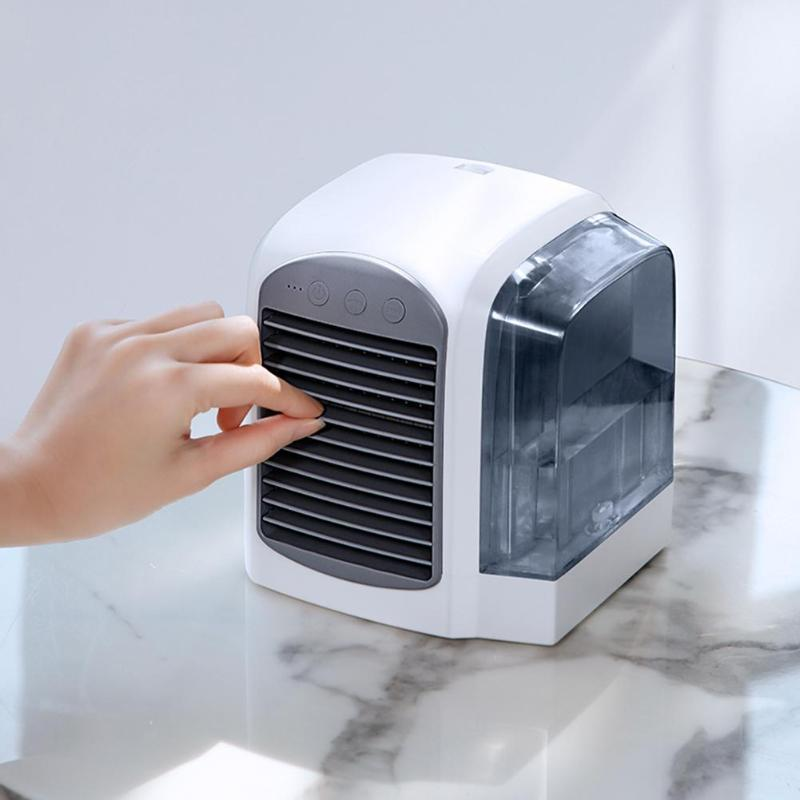 380 ml USB Mini climatiseur ventilateur de refroidissement 7 couleurs lumière purificateur d'air humidificateur été portable refroidisseur d'air ventilateur pour bureau maison