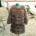 Brand Besty High Quality Real Natural Fox Fur colorful Vest /coat with a three quater fox fur sleeve can customized color strips
