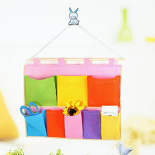 New Arrival Multicolored 5/8/12 Pockets Hanging Bags Wall Wardrobe Hanging Racks Organizer Multifunction Pouch Bags High Quality