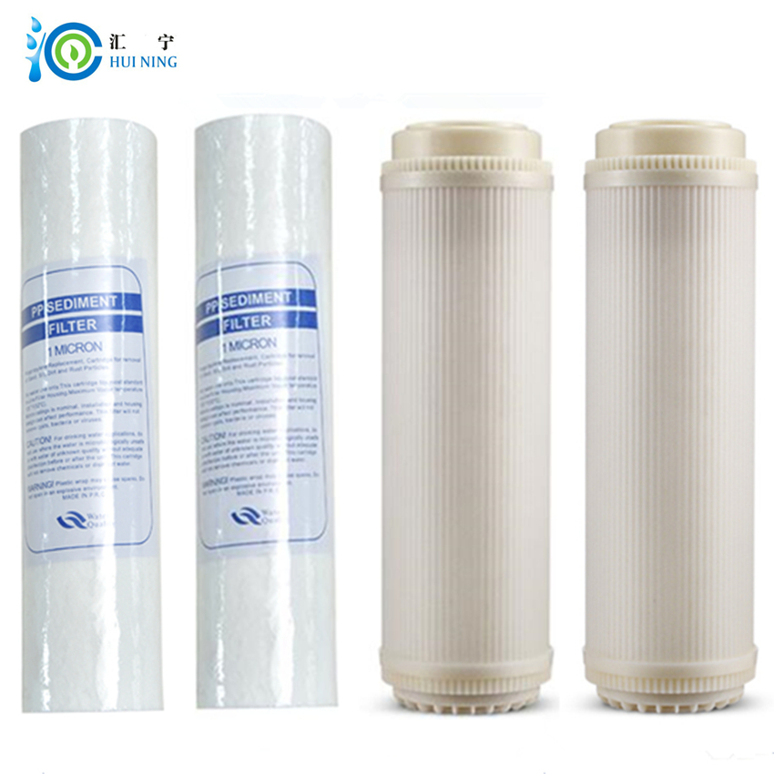 2 pcs PP Cotton filter and 2 pcs ultrafiltration filter household Water Filter for System Reverse Osmosis