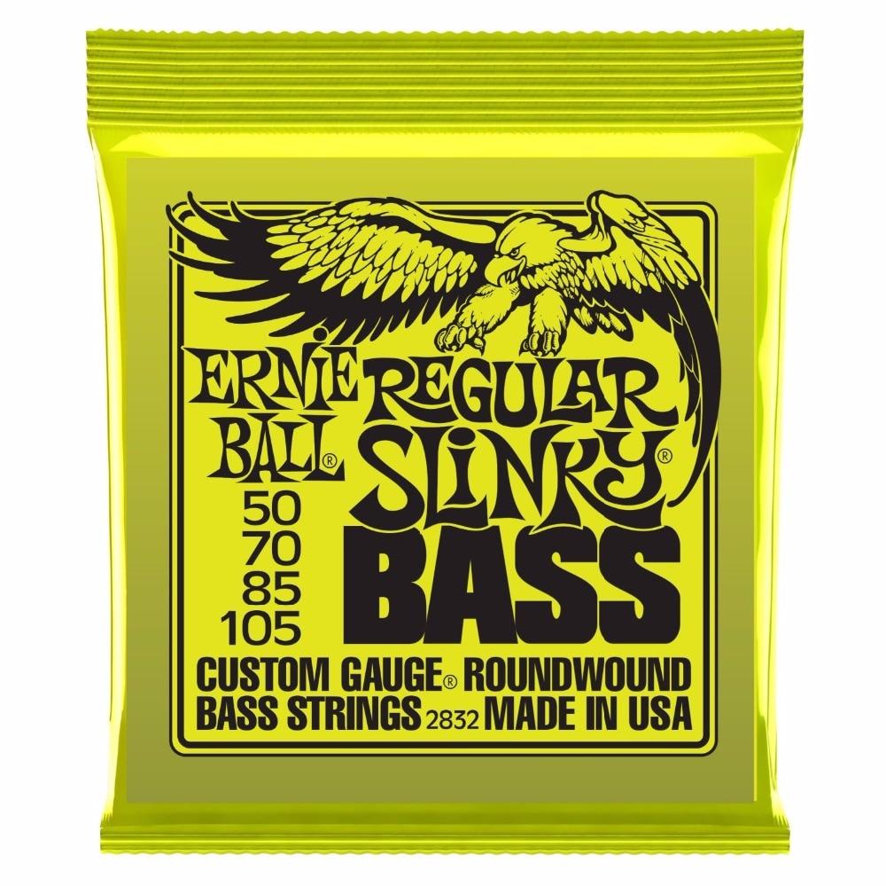 Ernie Ball 2832 Regular Slinky Round Wound Bass Guitar Strings 50-105 savarez 510 cantiga series alliance cantiga normal high tension classical guitar strings full set 510arj