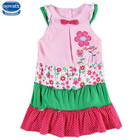 Baby Girl Clothes Retail Nova Kids Summer Short Sleeve Causal Style Flower Girl Dress 2016 Hot