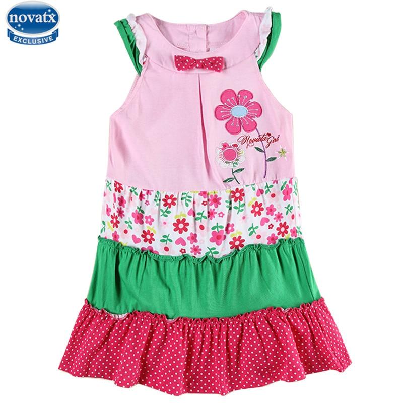 цены baby girl clothes retail nova kids summer short sleeve causal style flower girl dress 2016 hot sale kids clothes clothing girl