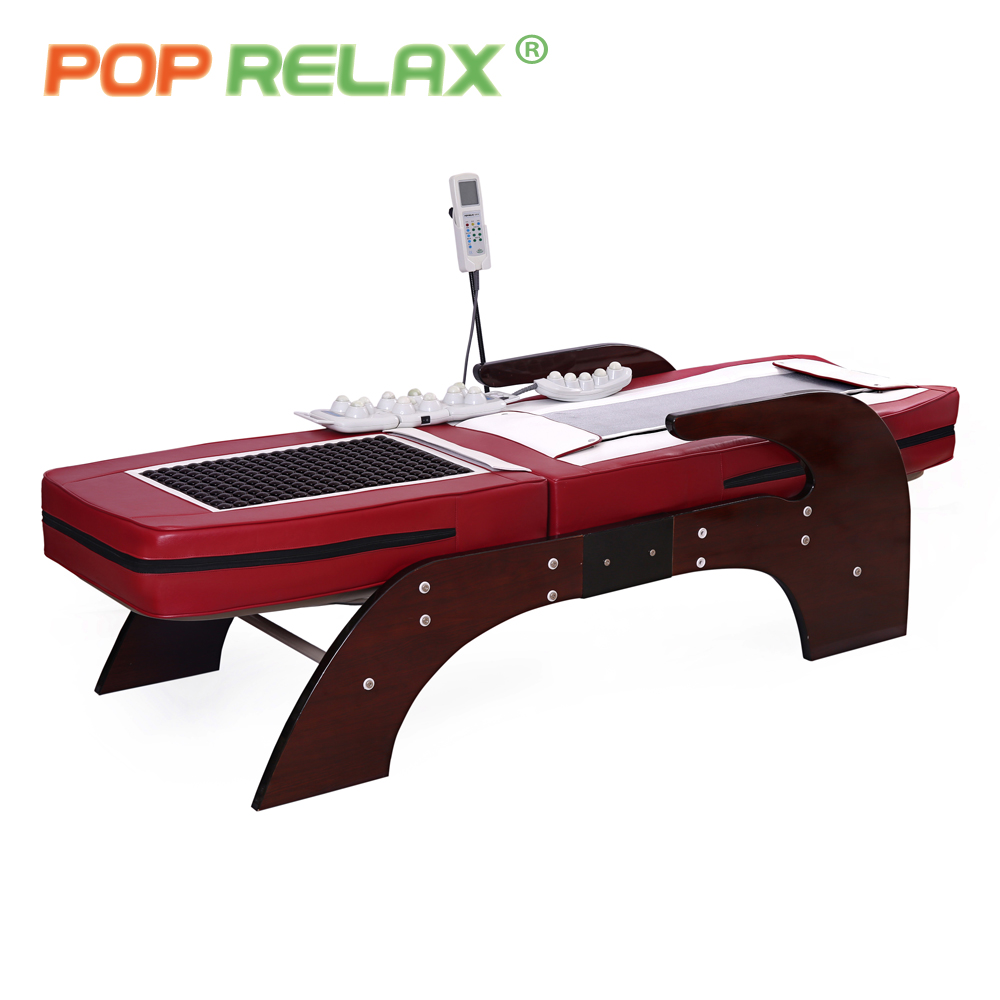 POP RELAX Korea electric massage bed thermal jade stone roller spine relax massager rolling jade heating healthcare massage bed pop relax electric vibrator jade massager light heating therapy natural jade stone body relax handheld massage device massager