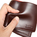 NEW Men's Genuine Leather Wallets Credit Card Holder Slim Purse Gift mens genuine real leather wallets with coin purses