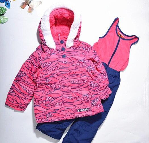 2018 Promoção Apressado Completa Com Capuz Brasão Moda Listrado Com Zíper Inverno Espessamento prova de Frio-Qualidade À Prova de Vento Twinset Criança Set