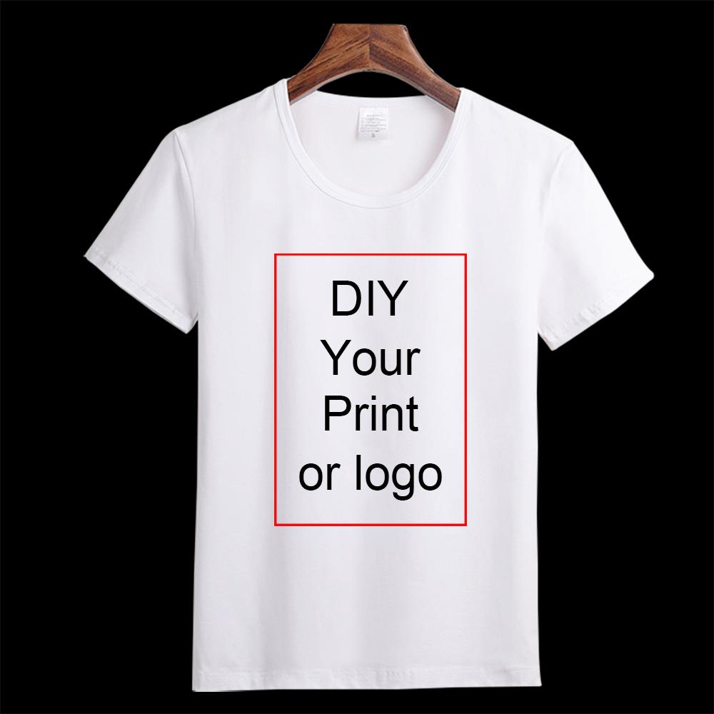 Customized Print T Shirt Women's Girl's DIY Photo Logo Brand Top Tees T shirt Men's Boy's clothes Casual Kid's Baby's Tshirt