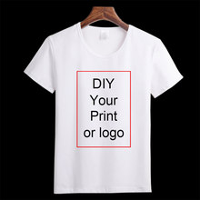 Customized Print T Shirt Women's Girl's DIY Photo Logo Brand Top Tees T-shirt Men's Boy's clothes Casual Kid's Baby's Tshirt(China)