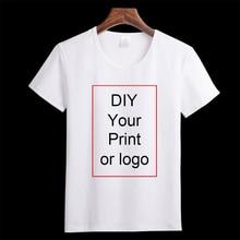 Customized Print T Shirt Womens Girls DIY Photo Logo Brand Top Tees T-
