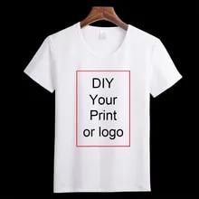 Print T-Shirt Tees Photo-Logo Customized Girl's Baby's Men's Brand Casual Top DIY Boy's