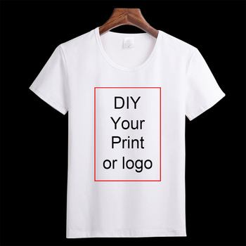 Niestandardowy nadruk T Shirt damski dziewczęcy DIY zdjęcie Logo top markowy koszulki T-shirt męski chłopięcy ubrania Casual dziecięcy dziecięcy Tshirt tanie i dobre opinie Krótki Tees Mężczyźni Na co dzień Topy Nylon Modalne Rayon Octan Poliester Elastan Poliamid Mikrofibra Włókno bambusowe