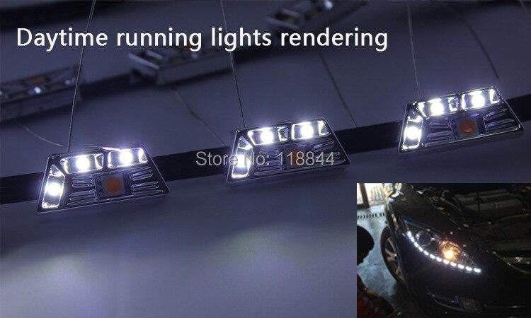2Pcs Λευκό + Κίτρινο 8W Διακόπτης - Φώτα αυτοκινήτων - Φωτογραφία 5