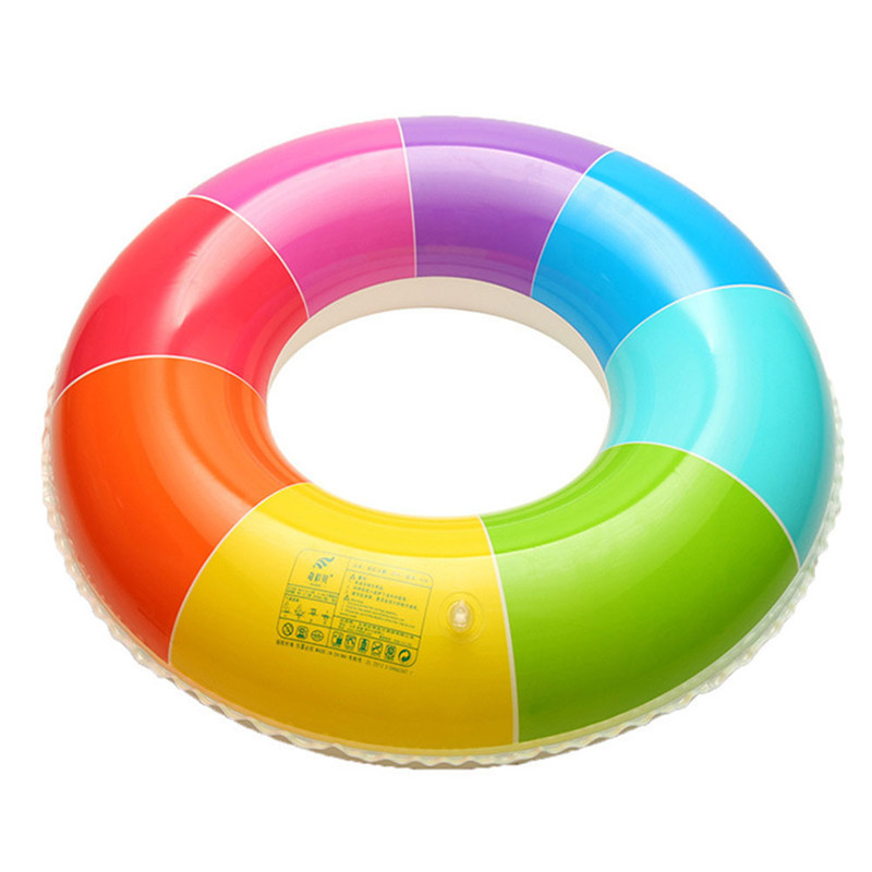 Women Water Inflatable Circle Swimming Ring Life Buoy Party Pool Float Adults Swim Ring Water Floating