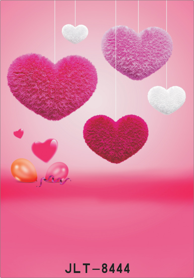 250x300cm Valentine's Day background Heart-shaped pink background vinyl backdrops for photography photography-studio-backdrop 8x10ft valentine s day photography pink love heart shape adult portrait backdrop d 7324