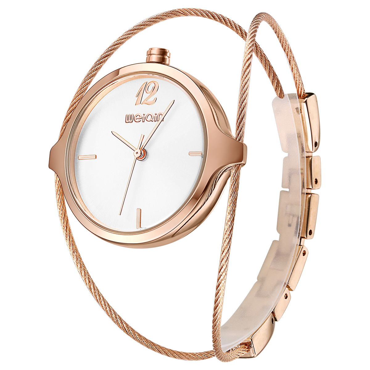 Top Brand Lady Luxury Gold Watch Fashion Women Metal Bracelet Watches Crystal Bracelets Relogio Femininos Slim Strap Wristwatch gold watchband for luxury watches brand stylish watches accessories 18mm 20mm 22mm fashion thiner bracelets promotion price new