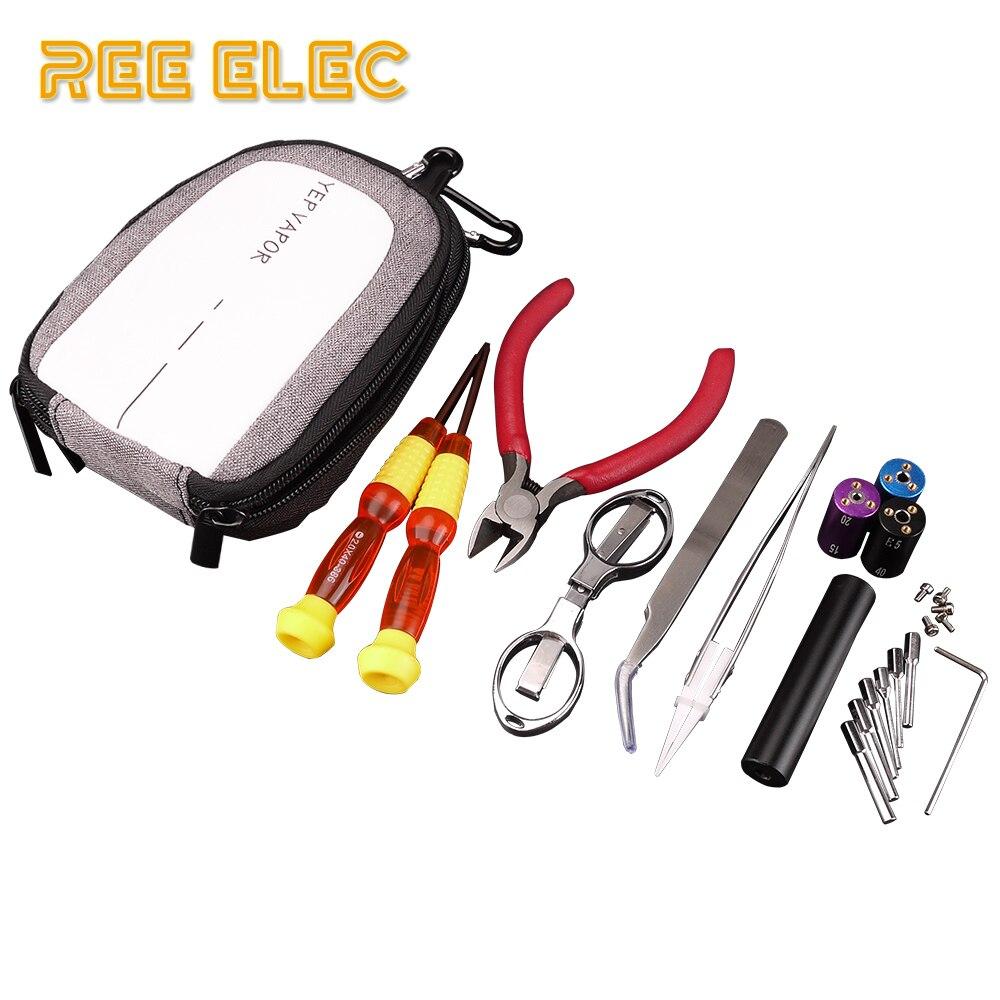 РЗЭ ELEC электронные сигареты комплект аксессуаров, инструментов готовые катушки Vape ручка джиг компилятор RDA RTA распылитель DIY питания