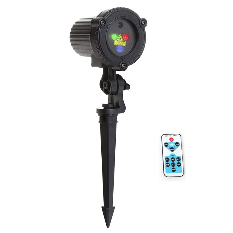 RGB Laser Projector Remote Static Star Dots Light Garden Outdoor Waterproof IP65 For Christmas Tree Xmas