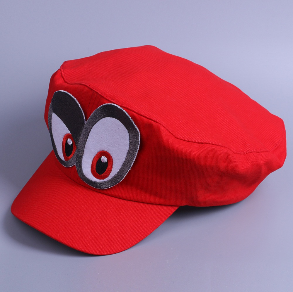Game Super Mario Odyssey Cap Cosplay Red Mario Hat Adult Kids Anime Handmade New3