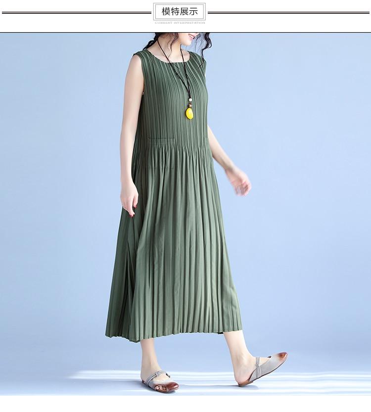 BelineRosa Women's Summer Dresses 17 Pure Color Casual Women Draped Dress Sleeveless Plus Size Dresses for Women QY00001 7