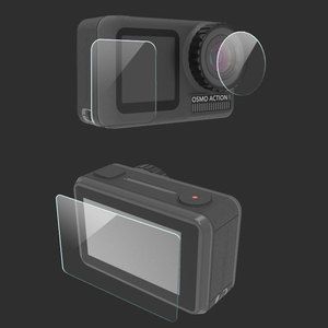 Image 2 - 3PCS/Set Protective Film for Dji Osmo Action Tempered Glass Front Back Screen Lens Protective Film for osmo Action Accessories
